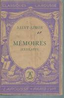 "SAINT-SIMON  "" MEMOIRES "" - Theatre"