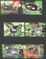 Q158 2015,2016 TONGA FLORA & FAUNA BUTTERFLIES !!! MICHEL 390 EURO !!! 6BL MNH - Papillons