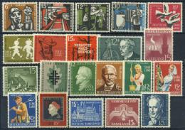 Sarre 1957-1959 Nuovo ** 100% Lavoratori, Cultura, Personalità - Sarre