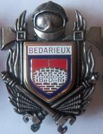 INSIGNE SAPEURS POMPIERS BEDARIEUX - Firemen