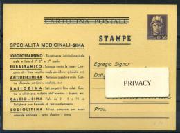 Luogotenenza 1945 Intero Postale 100% Filagrano C120 - 5. 1944-46 Lieutenance & Umberto II