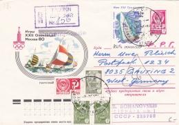 Soviet Postal Stationary 1980 Olympic Games Moscow - Used Registered Tallinn  (DD19-19) - Estate 1980: Mosca