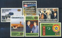 Turkmenistan 1996 Mi. 54-59 Nuovo ** 100% Indipendenza - Turkmenistan