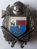 INSIGNE SAPEURS POMPIERS CASTELSARRASIN - Firemen