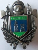 INSIGNE SAPEURS POMPIERS CAVAILLON - Firemen