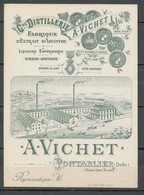 Carte De Visite - A. VICHET Pontarlier - Absinthe - Visiting Cards