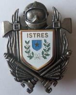 INSIGNE SAPEURS POMPIERS ISTRES - Firemen
