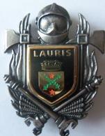 INSIGNE SAPEURS POMPIERS LAURIS - Firemen