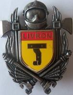 INSIGNE SAPEURS POMPIERS LIVRON - Firemen