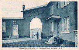CPA   76    GRAND-QUEVILLY----L'ENTREE DE L'ECOLE JEAN-JAURES - Frankrijk