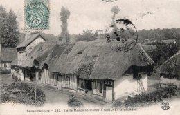 CPA   76    GRUCHET-LA-VALASSE---VIEILLE MAISON NORMANDE---1904 - Frankrijk
