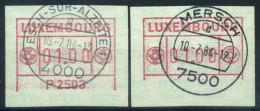 Lussemburgo 1983 Mi. 1 Usato 100% Automatici Manca La Linea Di Base - Postage Labels