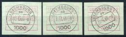 Lussemburgo 1983 Mi. 1 Usato 100% Automatici 6.00/10.00/12.00 - Vignette