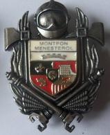 INSIGNE SAPEURS POMPIERS  MONTPON-MENESTEROL - Firemen