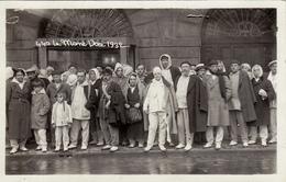 CARTE PHOTO,63,PUY DE DOME,AUVERGNE,LE MONT DORE,EN 1932,PLACE DU PANTHEON,SARCIRON,HOTEL,MALADE,MALADES,PLUIE - Le Mont Dore