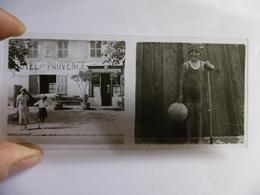 HOTEL DE PROVENCE ENFANT AU BALLON PHOTO PLAQUE DE VERRE STEREO 13 X 6 - Glass Slides