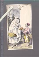 Menu - Femme Algérie - Lot De 2 - Emilie Robida - Circa1910 - Patisserie, Café, Femme Voilée - Menus