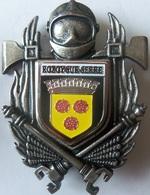 INSIGNE SAPEURS POMPIERS ROZOY SUR SERRE - Firemen
