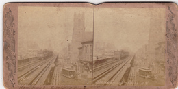 Amerique,UNITED STATES,ETATS UNIS,1890,BROADWAY,MANHAT TAN,NEW  YORK,TRAIN,GARE,RAIL,CAR, TAXI,PHOTO,FOTO,OLD - Old (before 1900)