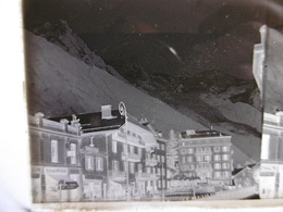 CHAMONIX BOUCHERIE DES ALPES DUMANGE HOTEL ASTORIA PHOTO PLAQUE DE VERRE STEREO 13 X 6 - Glass Slides