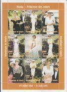 Republique De Guinee  1998  Lady Diana  Famous Women  Royalty  9v  Sheet  # 91554 - Famous Ladies