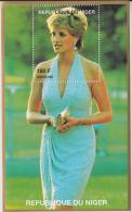 Niger  Lady Diana  Blue M/S # 54694 - Famous Ladies