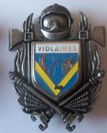 INSIGNE SAPEURS POMPIERS VIOLAINE - Firemen