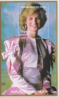 Niger  Lady Diana  Blue M/S # 54699 - Famous Ladies