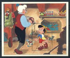 Grenada 1987 Mi. Bl. 190 Foglietto 100% Walt Disney, Pinocchio ** - Disney