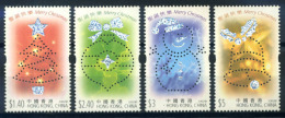 Hong Kong 2002 Mi. 1075-1078 Nuovo ** 100% Natale - 1997-... Chinese Admnistrative Region
