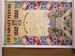 LE HAINAUT  FLEURI 1830 . 1930 DIPLOME DE PARTICIPATION à RANCE (BELGIQUE)  1930 - Diploma & School Reports