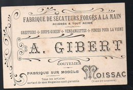 Moissac (82 Tarn Et Garonne) Carte A GILBERT (sécateurs Forgés à La Main) (PPP12560) - Advertising