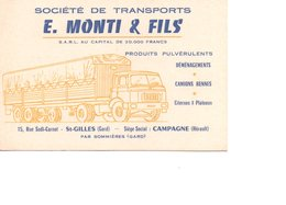 30 SAINT ST GILLES CAMPAGNE HERAULT GARD DEMENAGEMENT TRANSPORTS TRANSPORT - Visiting Cards