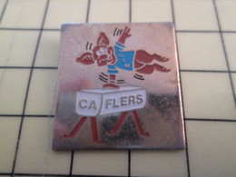 Pin413e Pin's Pins / Beau Et Rare : SPORTS / GYMNASTIQUE CLUB FLERS KANGOUROU CHEVAL D'ARCONS - Gymnastics