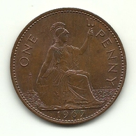 1967 - Gran Bretagna 1 Penny, - 1902-1971 : Monete Post-Vittoriane