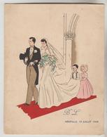 2 MENUS DOUBLE FEUILLET 1948, 1947 - Menus
