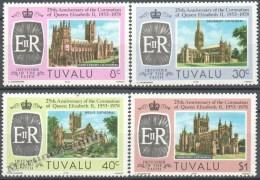 Tuvalu 1978 Yvert 69-72, 25th Ann. Coronation Queen Elizabeth II - MNH - Tuvalu