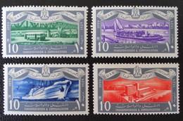 TRANSPORTS ET COMMMUNICATIONS 1959 - NEUFS ** - YT 449/50 + 452 + 454 - Egypt