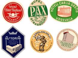 Depart 0,50 Euro Lot étiquette Hôtels - Hotel Labels