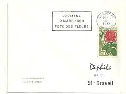 MORBIHAN  - Dépt N° 56 = LOCMINE 1969 = FLAMME CONCORDANTE N° 1356 = SECAP Temporaire ' FETE Des FLEURS ' - Marcophilie (Lettres)