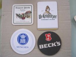 BIER N. 4 SB SOUS BOCKS SOTTO-BOCCALE BIRRA CERVEZA 2 FOTO – HB BECK'S - Sotto-boccale