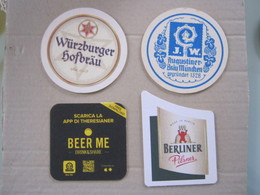 BIER N. 4 SB SOUS BOCKS SOTTO-BOCCALE BIRRA CERVEZA 2 FOTO – BEER ME BERLINER WURTZBURGHER AUGUSTINER - Sotto-boccale
