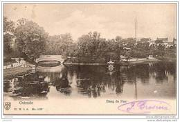OSTENDE ..--  Etang Du Parc . 1905 Vers AUBANGE ( Melle Marie DELOGNE ) .  Voir Verso . - Oostende