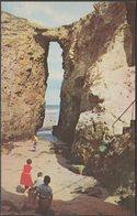 Natural Arch, Perranporth, Cornwall, 1965 - Postcard - England