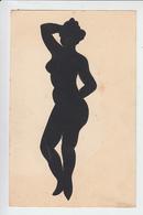 RT31.186 SILHOUETTE DECOUPEE  FEMME NUE   DE  E. LAMBERT DE MONTOISON  SPECIALISTE PARIS BY NIGHT THE GENTLEMAN GUIDE. - Silueta