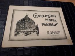 Old Hotel Brochure - Charleston Hotel Paris - Hotel Labels
