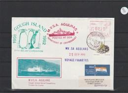 Briefumschlag Mit Schiffsstempel    M.V.S.A.  Agulhas      25/9/91 - Schiffahrt
