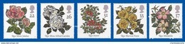 GREAT BRITAIN 1991 FLOWERS ROSES  U.M. S.G. 1568-1572   FLEURS  ROSES    N.S.C. YT 1551-1555 - Neufs
