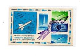 MK682 - REPUBLICA DOMINICANA :  Spazio, Razzo , Raket  Commemorativi  28/07/1964 - Repubblica Domenicana
