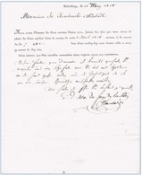 Niederbronn 1818 Administration Des Forges Du Bas-Rhin Pour Sélestadt - Sélestat - Documents Historiques